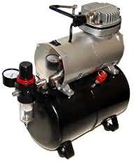 Tattoo Machine India Airbrush Mini Oil-Less Air-Compressor with Tank