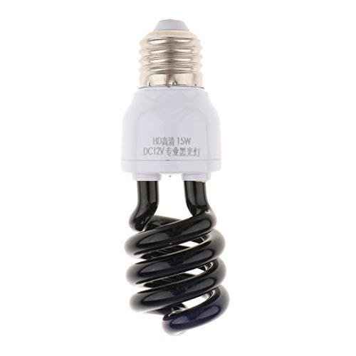 Sharplace UV Schwarzlicht Glühbirne Glühlampe Leuchtmittel Ultraviolette Lampe - Spirale Typ 15W -