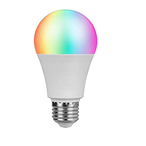 Bombilla WIFI, LED Bombilla Inteligente Soporte Alexa & Google Home Hue Control Light por Smartphone Iphone, Bombilla Android Dispositivo 4.5W (40W Equivalente)