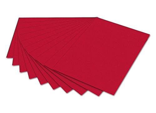 Folia 6118-Cartón fotográfico, 50x 70cm, 10Hojas, Color Rojo