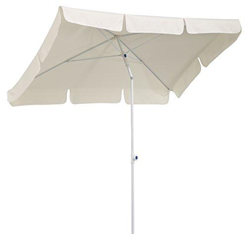 Schneider Sonnenschirm Ibiza, natur, 180x120 cm rechteckig, Gestell Stahl, Bespannung Polyester, 2.6 kg