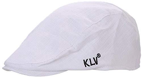 HX fashion Unisex Baskenmütze Mode Unifarben Schiebermütze Damen Herren Bequeme Größen Outdoor Schirmmütze Gatsby Flatcap Barett Kappe Kleidung (Color : Weiß, Size : One Size)