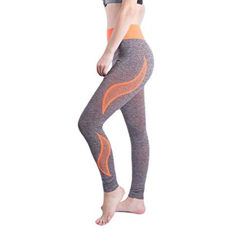 Setsail Damen Nahtlose Hip-Raise High Waist Stretch Trend Hosen Laufen Fitness Yoga Hosen Legere Laufhose Marine High Bib Overall