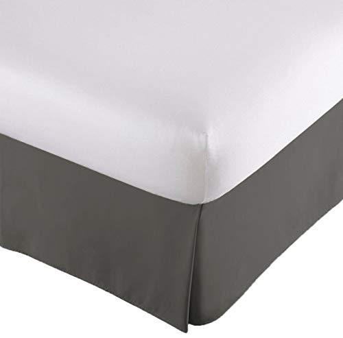 Queen-size-plattform Bett (Bett Rock langstapelige Faser-langlebig, bequem und abriebfest, Quadruple Bundfaltenhose, 100% feinste Qualität von Lux Decor Kollektion, Bambus, grau, King Size)