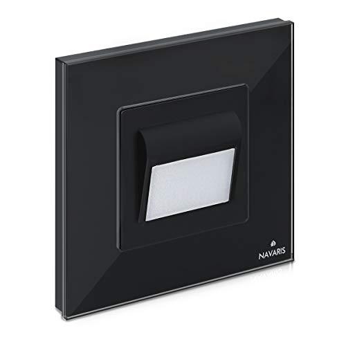 Navaris Luz LED para escalera o pasillo - Foco empotrable para pared...