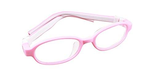 De Ding Kinder Silikon Eye Brille pink weiß Rahmen