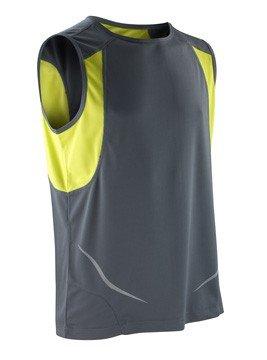 Result-rmelloses-Sportshirt-Athletic-S186X-FarbeGreyLimeGreXXL