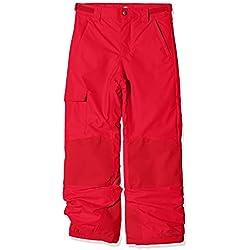 Columbia Bugaboo II Pantalones de esquí, Niños, Rojo (Mountain Red), Talla: L