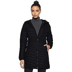 Columbia Powder Lite Jacket Chaqueta Larga, Mujer, Negro (Black), M