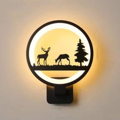 HNZZN 15 Watt LED Wandleuchte Moderne Kreative Schlafzimmer Neben Wandleuchte Innen Wohnzimmer Esszimmer Korridor Beleuchtung Dekoration, 2 Hirsche, China, 15 Watt, Warmweiß (2700-3500 Karat) (China Hirsche)