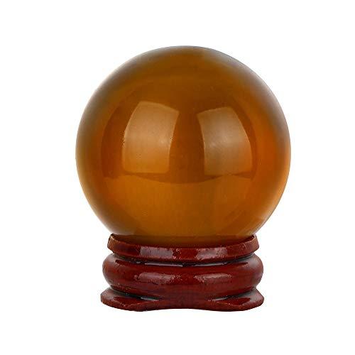 TianranRT HEISS! 40mm Natürliche Quarz Magie Kristall Kugel Heilung Kugel Kugel Und Stand (Orange) -