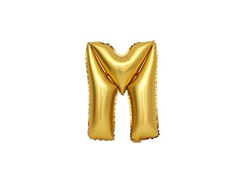 Folienballon Buchstaben A-Z gold Geburtstag Luftballon Helium Ballon Party Dekoration von ALSINO, Variante wählen:T71255 Buchstabe M (Spielzeug M 60)