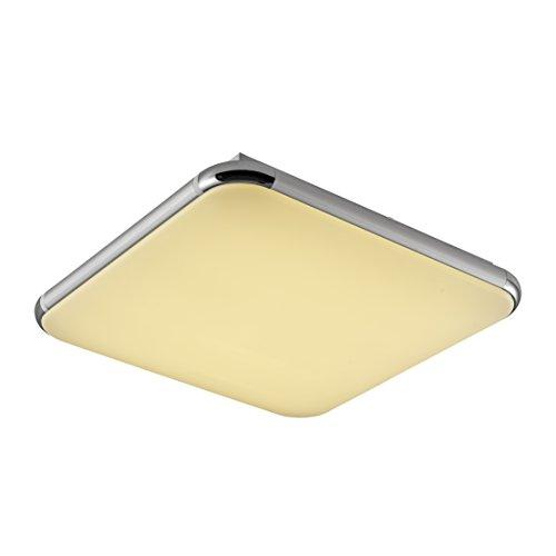 Plafoniera led 12 watt lampada da soffitto piatta a basso consumo resistente a umidità sottile luci casa bagno ufficio negozio luce bianca calda (850 lumen)