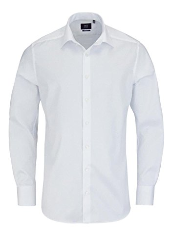 ETERNA long sleeve Shirt MODERN FIT Twill uni Bianco