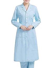 ZHUXIANSHENG Doctor Enfermera Uniforme Quirúrgico Ropa Hospital Femenino Médico Beautician Guardapolvos