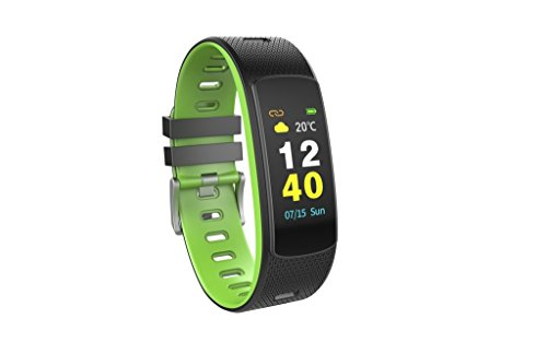 OMNiXTM iWOWN i6 HR-C Fitness Tracker with Full Color Screen with HD Quality and Auto Brightness (Green)