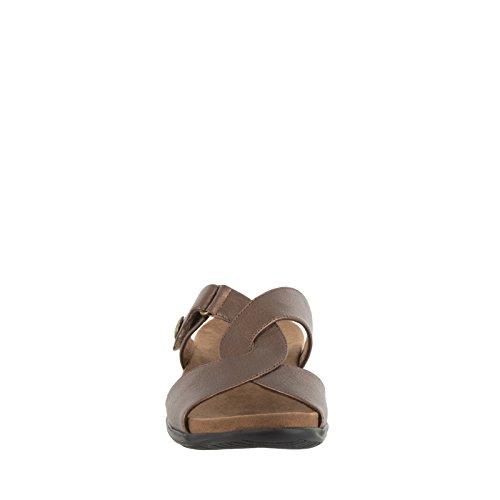 Easy Street Spark Damen Schmal Kunstleder Sandale Bronze