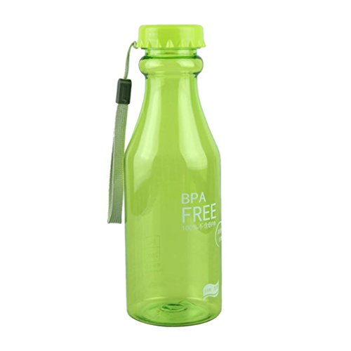 Longra 550ml BPA libre de ciclo de plástico irrompible botella de agu