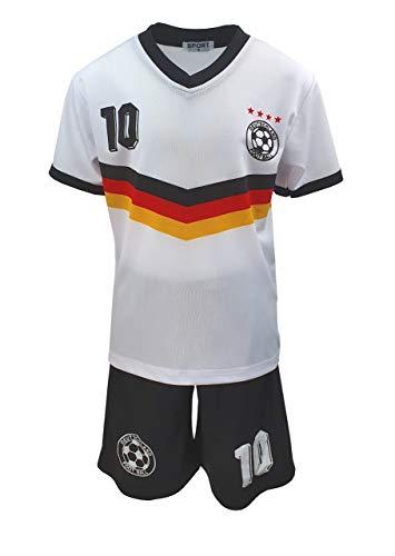 Unbekannt Fussball Fan Set Deutschland Germany Trikot + Shorts, Gr. 110/116, JS112.6