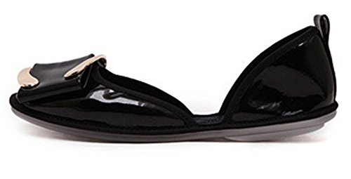 Aisun Femme Confortable Chaussures de Danse Plates Ballerines Noir