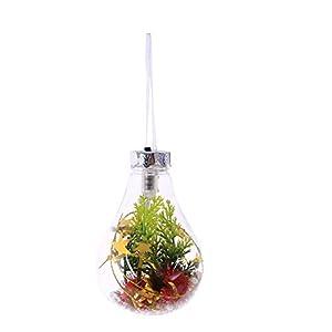 Dapei Weihnachtsbaum Dekor Handwerk leuchtende klare Glühbirne Weihnachtsbaum hängende Verzierung leuchtende Anhänger Geschenk Blume Weihnachtsdekoration