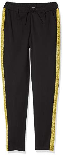 NAME IT Mädchen NKFBIANNA IDA Ankle Pant NOOS Hose, (Schwarz Black), (Herstellergröße: 140)