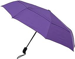 Amazon Brand - Solimo Automatic Travel Umbrella with Wind Vent - Purple