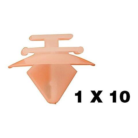 Tuqiang® Lot de 10 clips en plastique pour fixation de baguettes de protection latérales