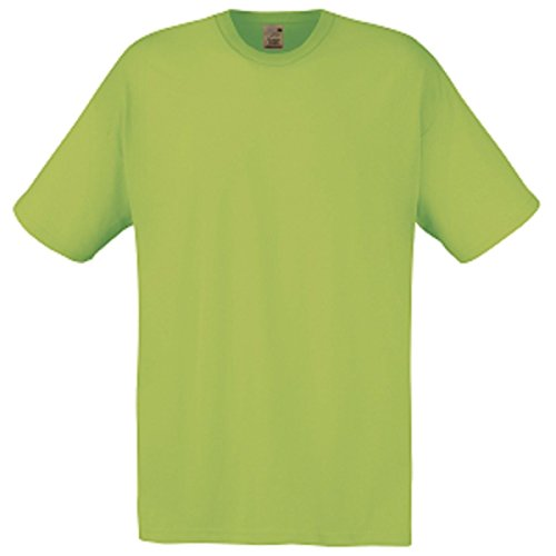 Fruit of the Loom Herren T-Shirt Gelb - Lime
