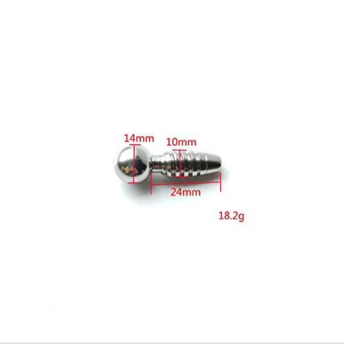YCGJ Stainless Urethral Penis Plug Hollow Thread selbstsichernde Katheter männlichen Harnröhre Plugging Eye Stick,L