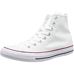Converse Chuck Taylor Hi, Zapatillas Unisex, Blanco (Optical White), 42 EU