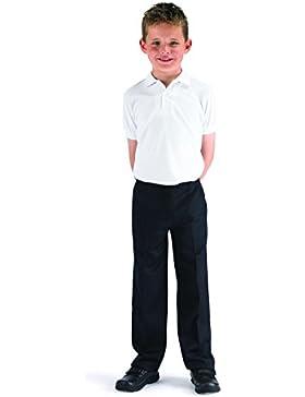 Directo uniformes niños escuela/formal-slimmer Cut- buen valor pantalones de (7–12yrs- negro o gris)