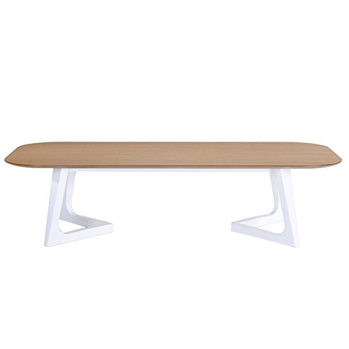 Paris Prix - Table Basse Design Storm 150cm Chêne & Blanc