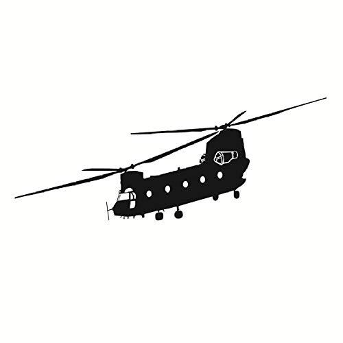 Transport Helicopter Sticker Adhesive Vinly Wandkunst für Jungen Schlafzimmer Huge Marine Corps Wandaufkleber 105x42cm -