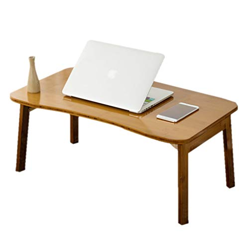 Hölzerner Couchtischlaptop-Tabellen-Faltbarer Tabellen-einfacher fauler Schlafsaal-Studien-Schreibtisch (Color : Brown, Size : 70CM*42CM*31CM)