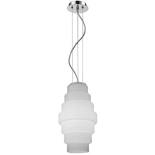 Paris Prix - Lampe Suspension Verre Britt 30cm Blanc