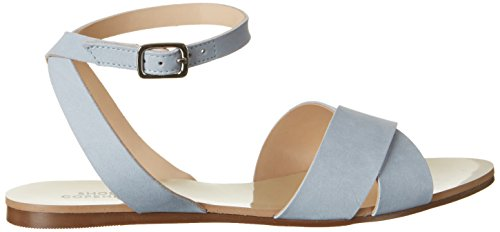 Shoe Biz Flat, Sandali con Zeppa Donna Blu (Nubuk Light Blue)
