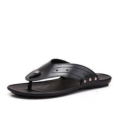 Athletic Shoes Primavera Autunno Coppia Scarpe da uomo Tulle casuale Tallone piano Lace-up Nero / Blu Nero sandali US7.5 / EU39 / UK6.5 / CN40