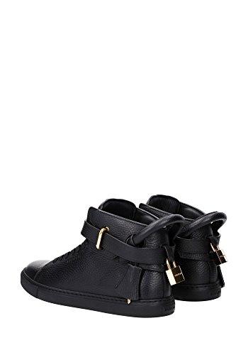 1007SP14BLK Buscemi Sneakers Homme Cuir Noir Noir