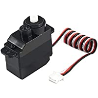Price comparsion for Fantasyworld 7.5g Plastic Gear Analog Servo 4.8-6V for Wltoys V950 RC Helicopter Airplane Part Replacement Accessaries