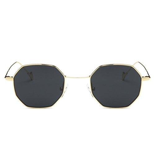 Sommer Brille FORH Unisex Mode Polarisierte Katzenaugen Sonnenbrille Klassische Unregelmäßige Rahmen Gläser Outdoor Sportarten Schutz Brille UV-Schutz Fahrbrille (Grau)