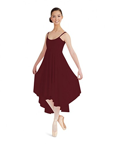 BG001 Cami Kleid mit chiffon Rock Burgundy Small (Brustumfang 32-34, Taille 24-26) (Taille Cami)