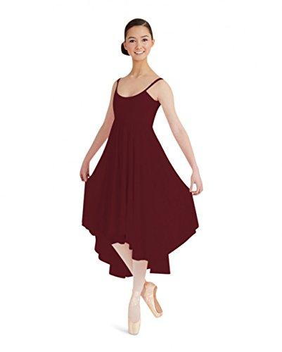 BG001 Cami Kleid mit chiffon Rock Burgundy Medium (Brustumfang 34-36, Taille 26-38)