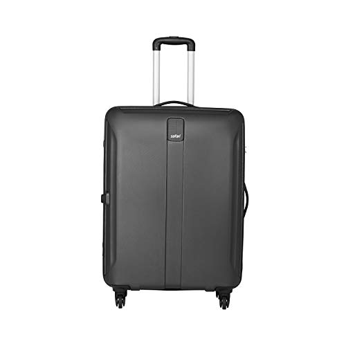 Safari Polycarbonate 55 cms Black Hardsided Cabin Luggage (THORSHARPANTI554WBLK)