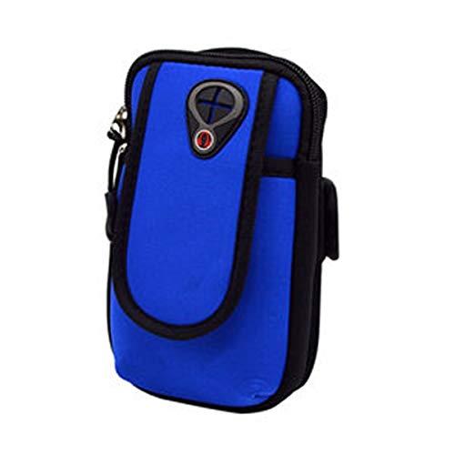 Tianzhiyi Familie unerlässlich Sport-Armband-Taschen-Tasche, Arm-Beutel-Halter für Bargeld-Schlüssel-Kopfhörer-Karten iPhone 6S, Samsung-Galaxie A3 und alle Kleiner als 4,8 Zoll (Color : Blau)