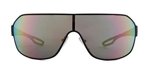 Ray-Ban Herren 0PS 52QS Sonnenbrille, Mehrfarbig (Black Rubber), 40.0