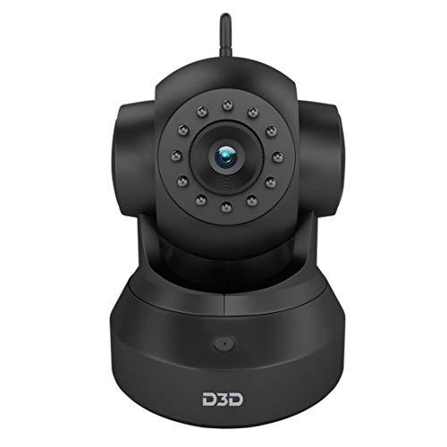 D3D D8801 HD 720P WiFi Home Security Camera 360 PTZ (Black)