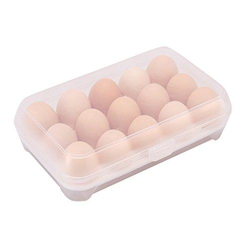 Chytaii Eier-Box, Aufbewahrungsbox mit Halterung für Eier, für Lebensmittel, aus Kunststoff, zum Aufheben von Eiern in Kühlschrank, in der Küche weiß