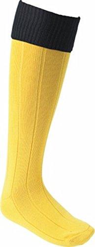 OSG Euro Socke Fußball Hockey Rugby Foot Care Knie Hohe Running Trainer Socke Gold/Schwarz L (Jungen) - Schwarz-gold-rugby