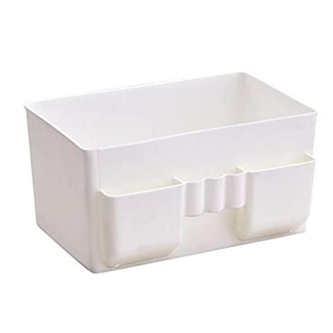 Tefamore Boîte de rangement en plastique pour bureau Boîte de rangement pour organisateur de maquillage (Blanc)